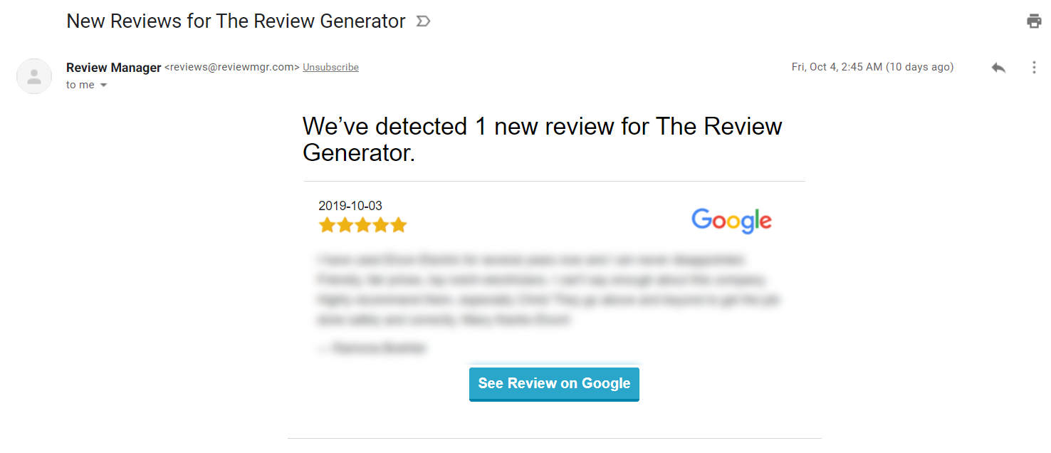 review email alerts